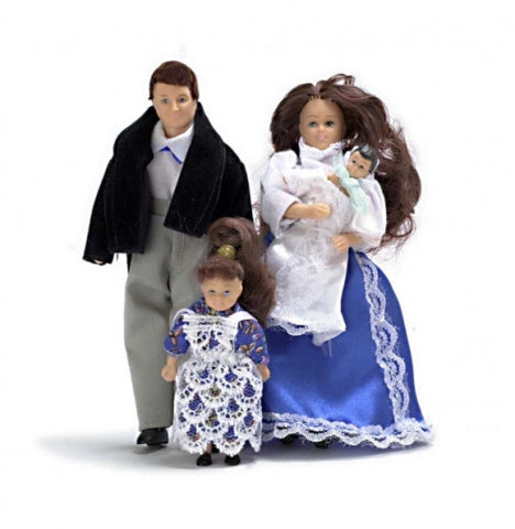 Doll Family Victorian 4PC Brunette