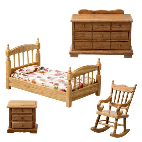 4 Piece Oak Bedroom Set