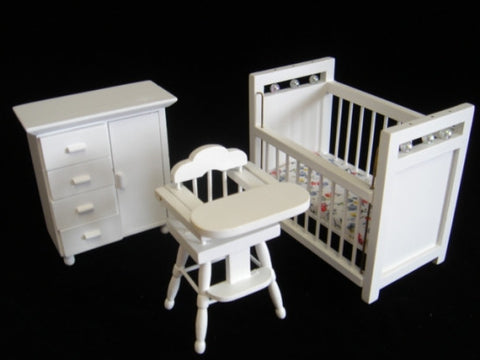 Nursery, 3 Piece Set White