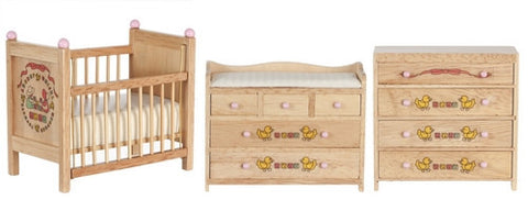 Nursery Set, 3 Piece Oak, Ducks