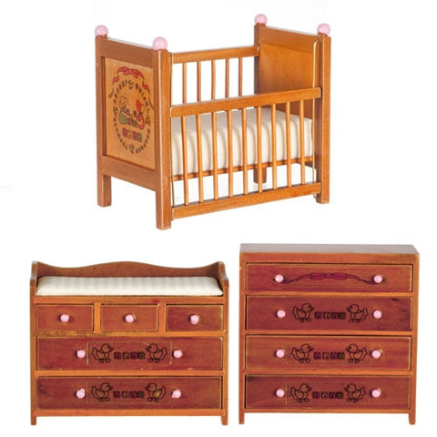 ABC Nursery Set, Walnut Finish
