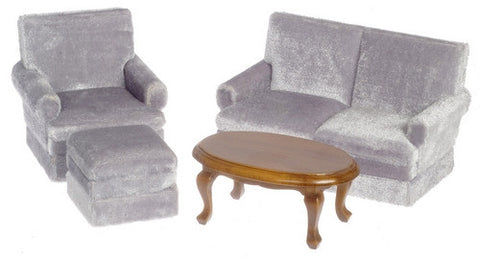 Living Room Set, Plush Grey