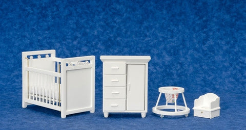 Nursery Set, Four Piece, White