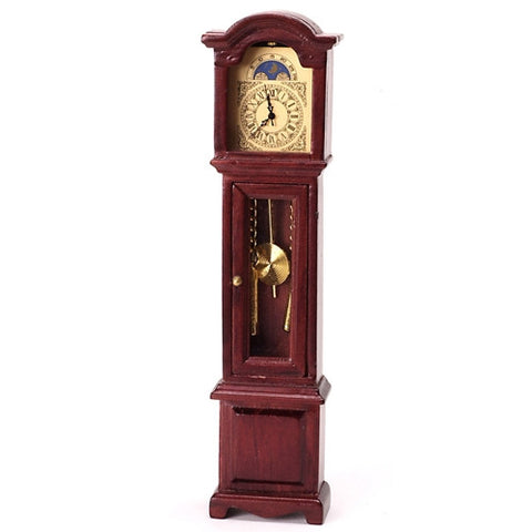 Grandfather Clock, Working Quartz, Mahogany