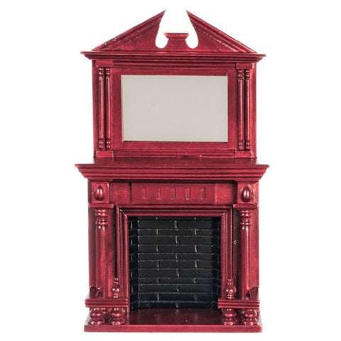 Mahogany Fireplace with Federal Style Mirror ON SALE