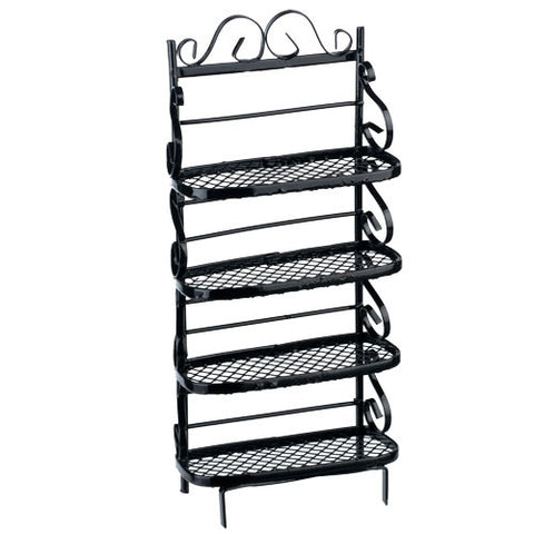Bakers Rack Shelves, Black
