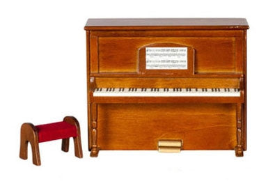 Piano, Upright, Walnut, Economy