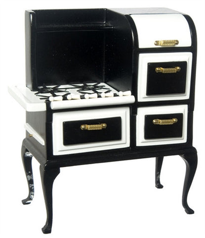 1920's Stove and Oven Unit, Black