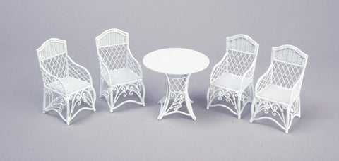 Metal Wicker Table and Four Chairs ON SPECIAL