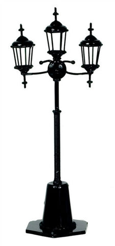 Triple Lamp Post, Black