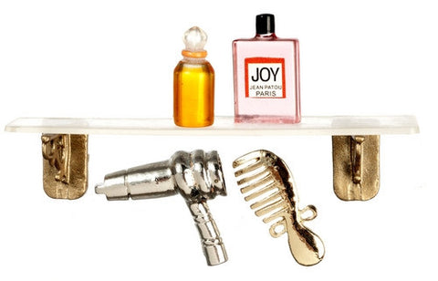 Plexiglass Shelf with Perfumes