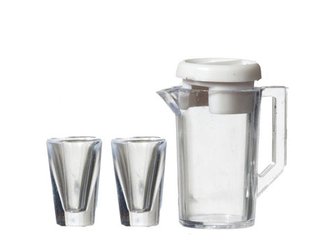 Water Pitcher and Two Glasses