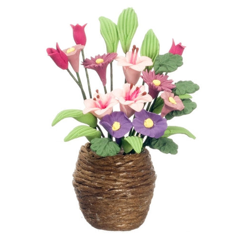 Flowers in Woven Vase