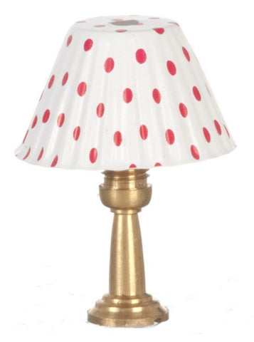 Table Lamp with Red and White