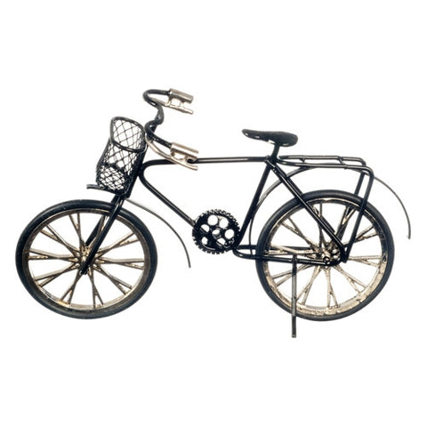 Bicycle, Black with Basket, Adult Size
