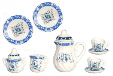 Tea Service, Blue and White