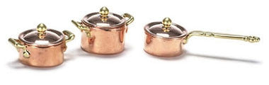 Copper Pot Set, Two Tone