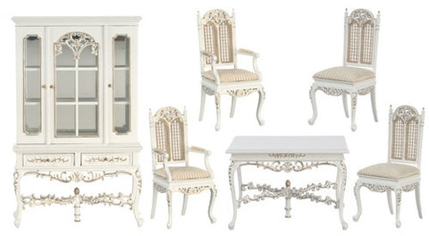 Dining Set, White Finish, ON SALE