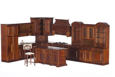 Formal Kitchen Set, 11 Piece, New Walnut, ON SALE!