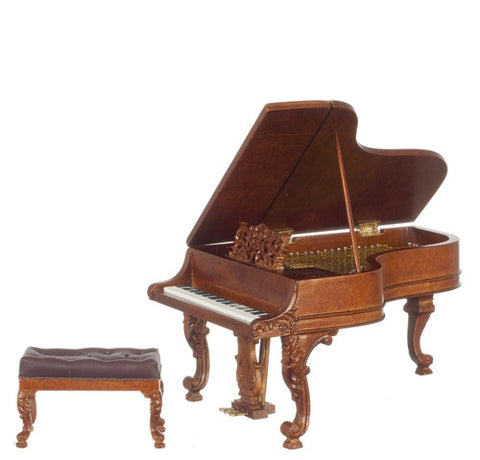 Victorian Baby Grand and Stool, Introductory Offer!