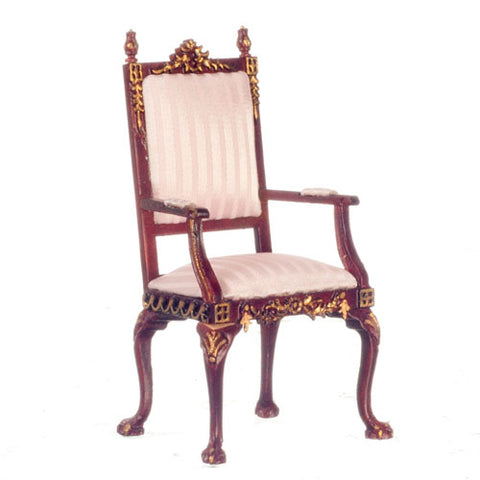 Grand Arm Chair, Mahogany and Gold