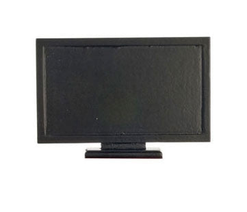 Flat Screen TV, Black, 1:12 Miniature Scale