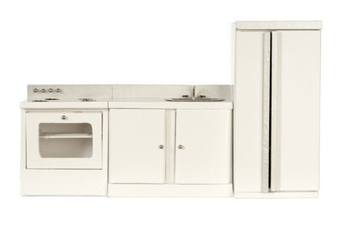 Kitchen Set, Three Piece, White