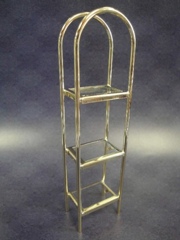 Brass Etegere, Curved Top