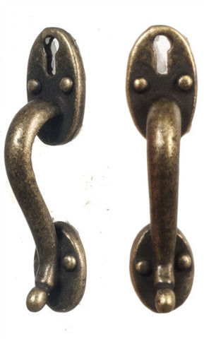 Door Pulls, Antique Finish, Pair