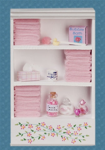 Bath Cabinet with Accessories, Large, Pink