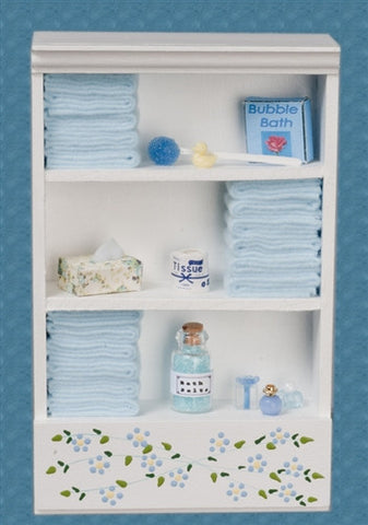 Bath Cabinet with Accessories, Large, Light Blue