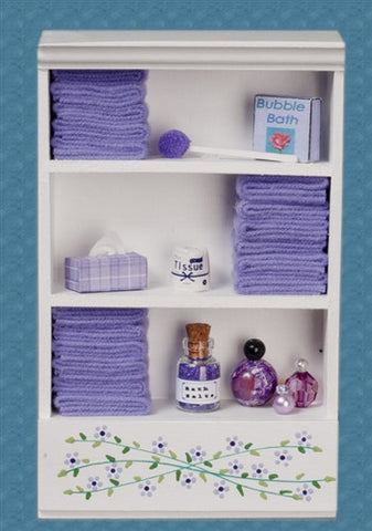 Bath Cabinet with Accessories, Large, Lavender