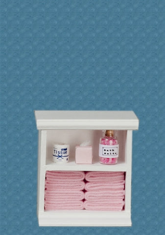 Bath Cabinet with Accessories, Small, Pink