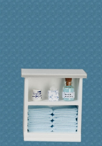 Bath Cabinet with Accessories, Small, Light Blue