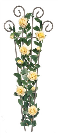 Trellis with Yellow Roses