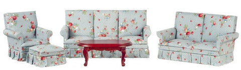 Living Room Set, Blue Chintz ON SALE!