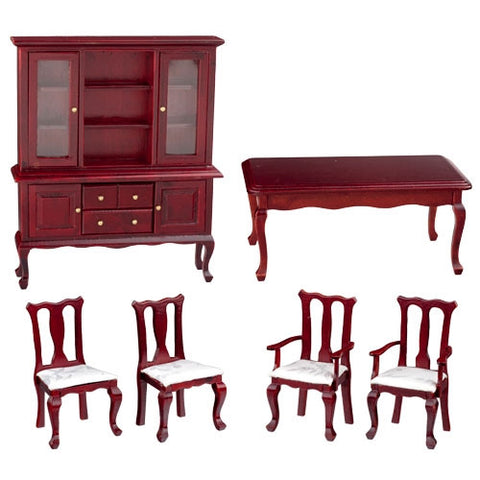 Six Piece Mahogany Dining Room Set with China Cabinet