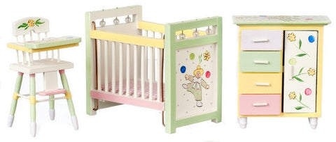 Nursery Set, Painted with Pastels