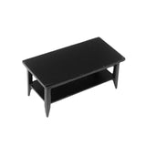 Coffee Table with Shelf, Black