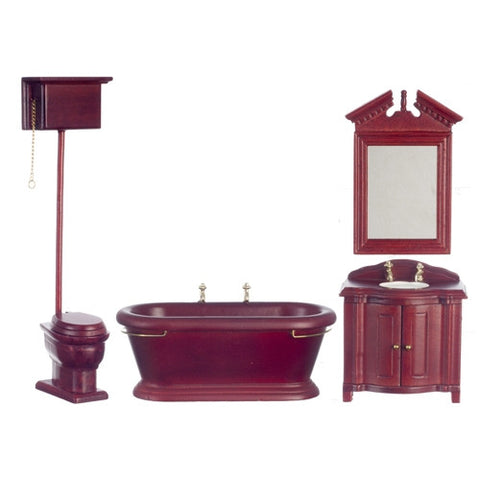 Victorian Bath Set, Mahogany Finish BACK IN STOCK
