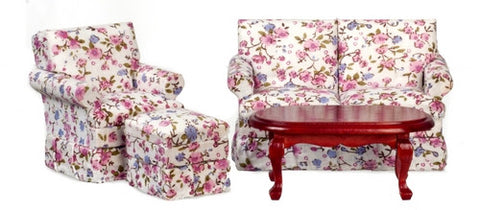 Living Room Set, Small, Floral Print