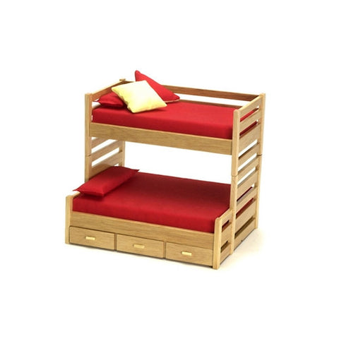 Oak Trundle Bunk Bed
