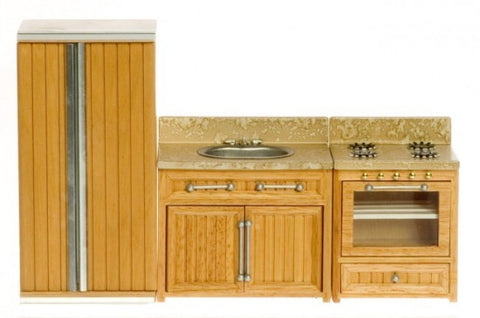 Kitchen Set, Oak and Marble
