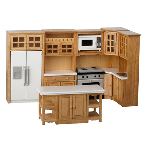 Oak Kitchen Set with Cabinets, 8 Piece Set ON SPECIAL