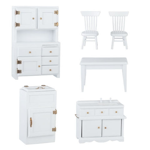 Kitchen, Old Fashioned 6 Piece, White ON SALE!