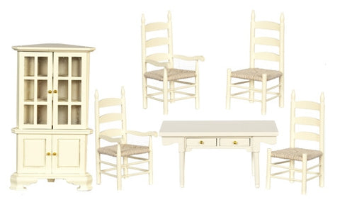 Six Piece Dining Set, Cream