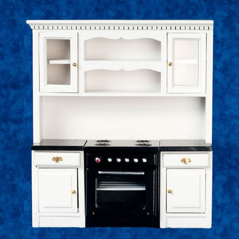 Stove Wall Unit with Black Counter Top