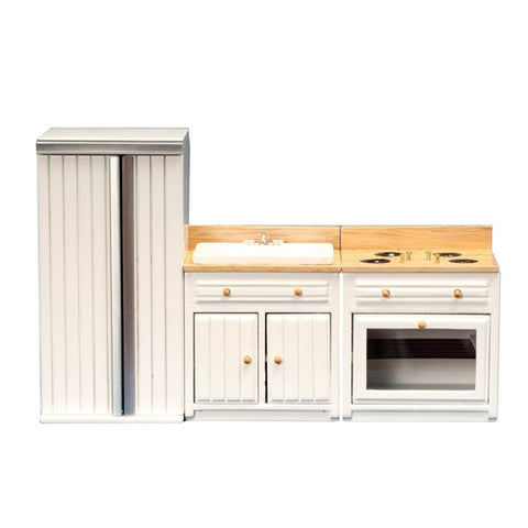 Appliance Set, White and Oak