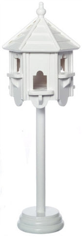 Bird House, White, Octagon Shape