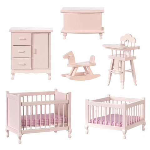 Nursery Set, Six Piece, Pink
